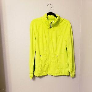 Tangerine brand lime green workout jacket. Size m